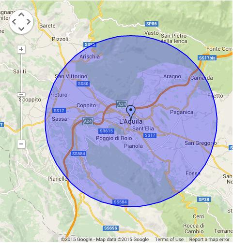 Targeting geografico per Raggio